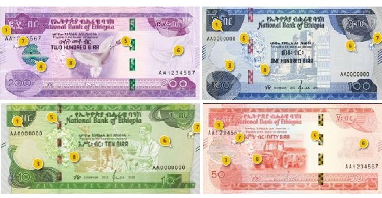birr Ethiopia unveils new currency notes