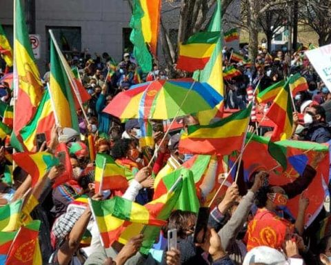 ethiopian in DC demo